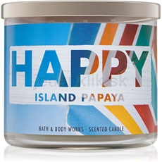 Bath & Body Works Happy Island Papaya 411 g vonná sviečka