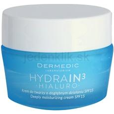 Dermedic Hydrain3 Hialuro hĺbkovo hydratačný krém SPF 15 50 g